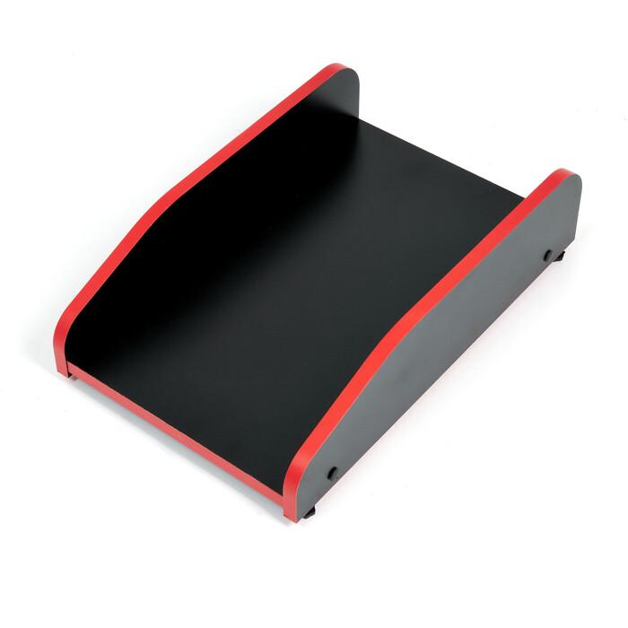 Подставка под системный блок TetChair StrikeRack neo black/red черный/красная кромка