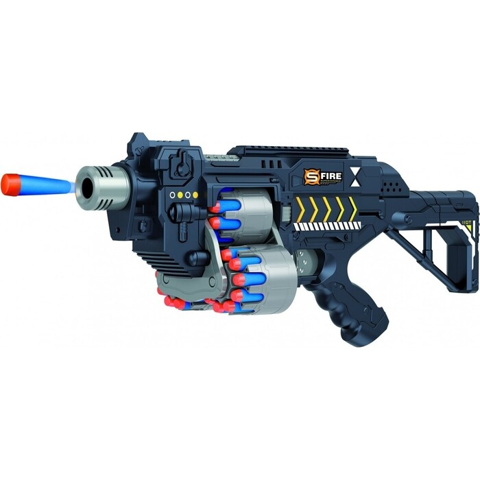 Автомат Le Neng Toys черный на батарейках с мягкими пулями - G2B