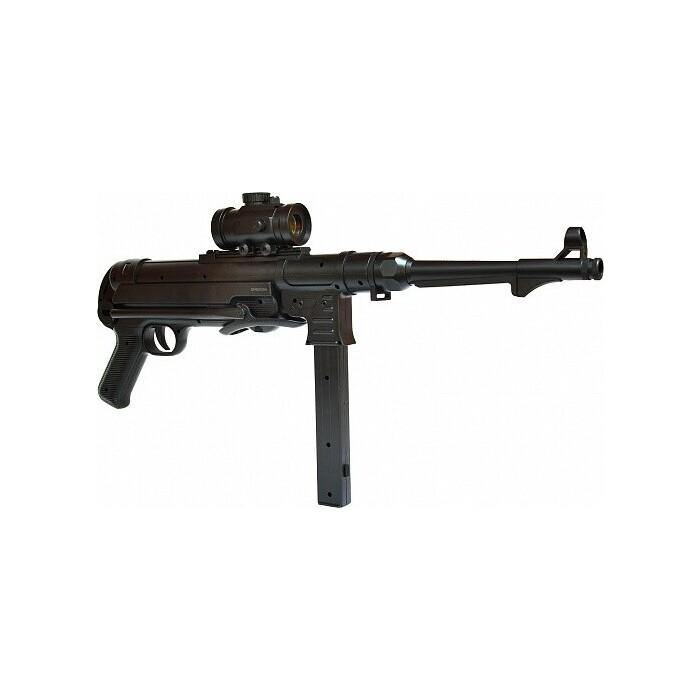 Автомат-пулемет CS Toys Шмайсер с пружинным механизмом (48 см, пневматика) - M40G cs toys пистолет пневматика металлический 15 см с глушителем g 3a cs g3a