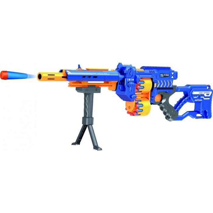Винтовка Le Neng Toys синяя на батарейках с мягкими пулями - G3A