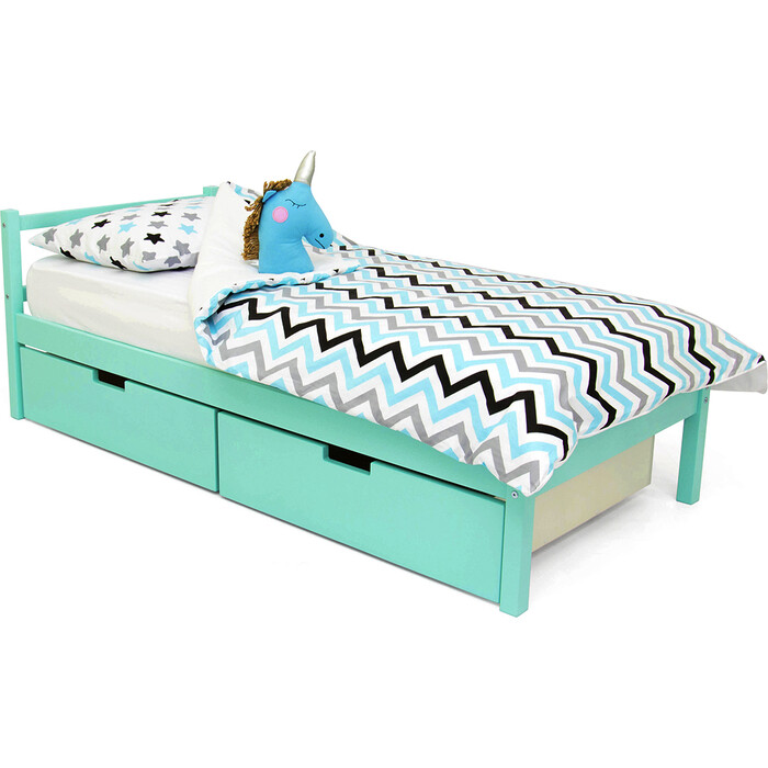 Детская кровать Бельмарко Svogen classic мятный + ящики 2 шт
