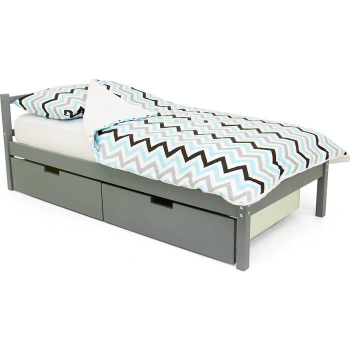 Детская кровать Бельмарко Svogen classic графит + ящики 2 шт