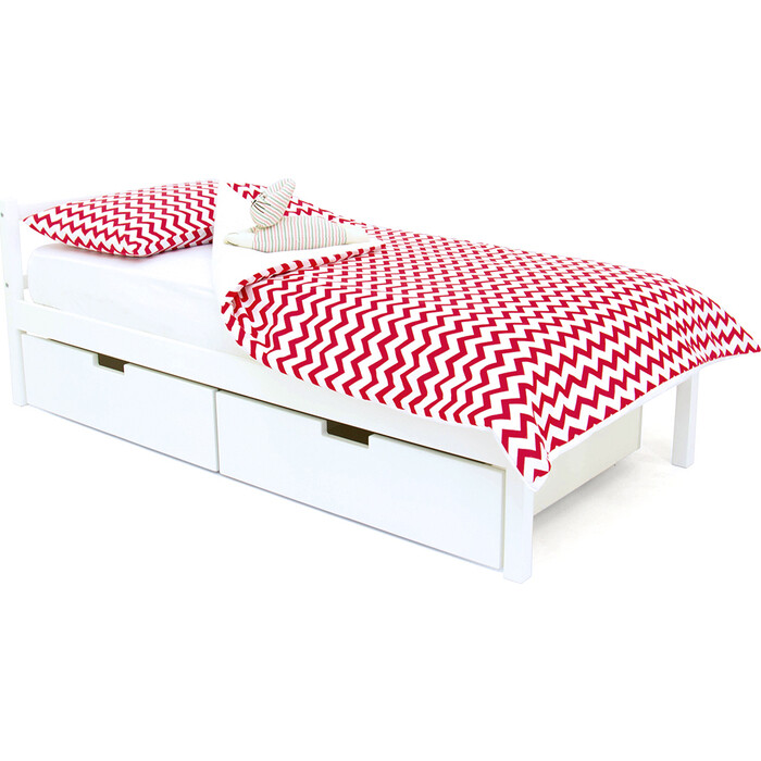 Детская кровать Бельмарко Svogen classic белый + ящики 2 шт