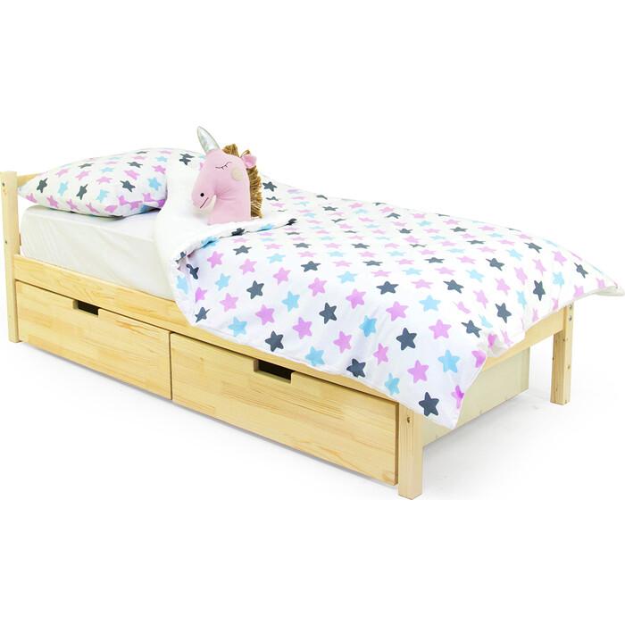 Детская кровать Бельмарко Svogen classic натура (без покрытия) + ящики 2 шт