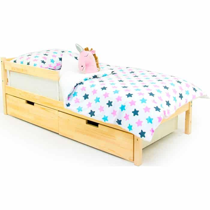 Детская кровать Бельмарко Svogen classic натура (без покрытия) + ящики 2 шт бортик ограждение