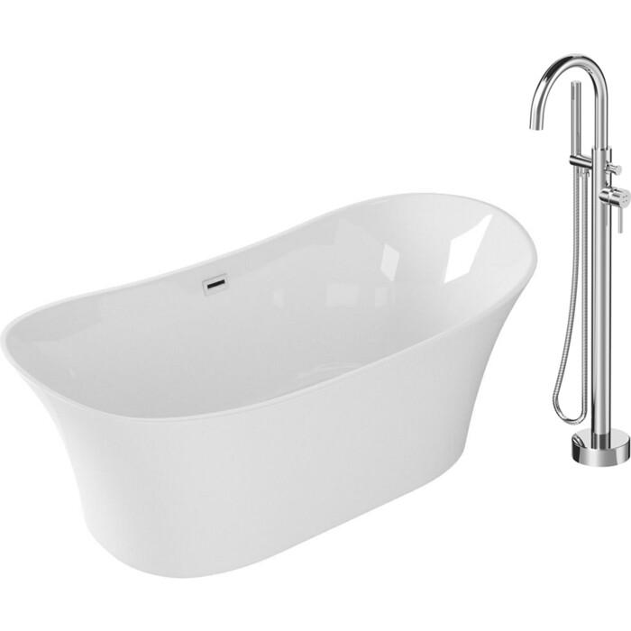 Акриловая ванна Grossman 170x80 со смесителем (GR-2101, F7514100)
