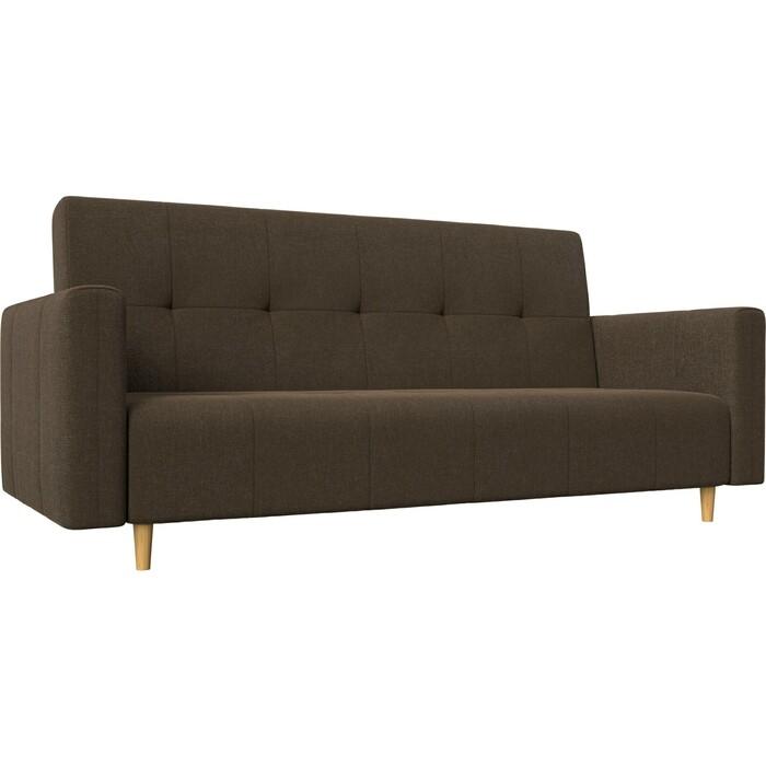 Прямой диван-книжка АртМебель Вест рогожка коричневый