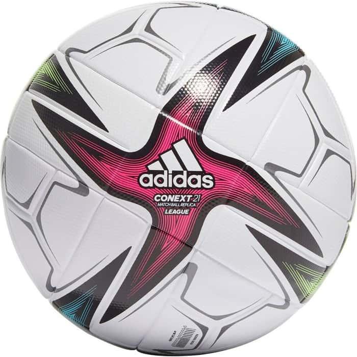 Мяч футбольный Adidas Conext 21 Lge арт. GK3489, р.4, 6 пан., ТПУ, термосшивка, бело-синий футбольный мяч adidas conext 19 omb dn8633