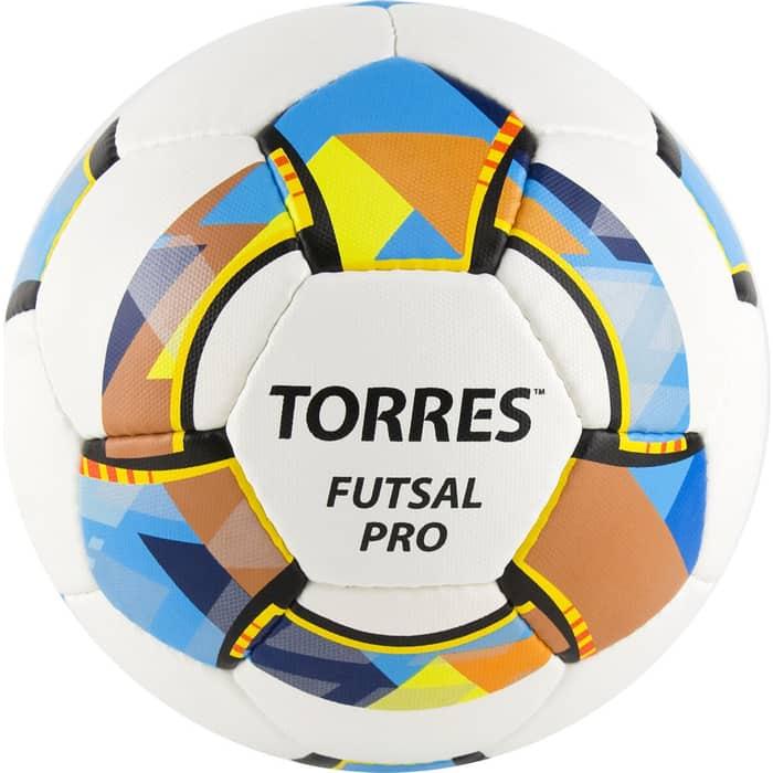 Мяч футзальный Torres Futsal Pro, арт. FS32024, р.4, 32 п. Micro, 4 подкл. сл, руч. сшив. бело-мультик