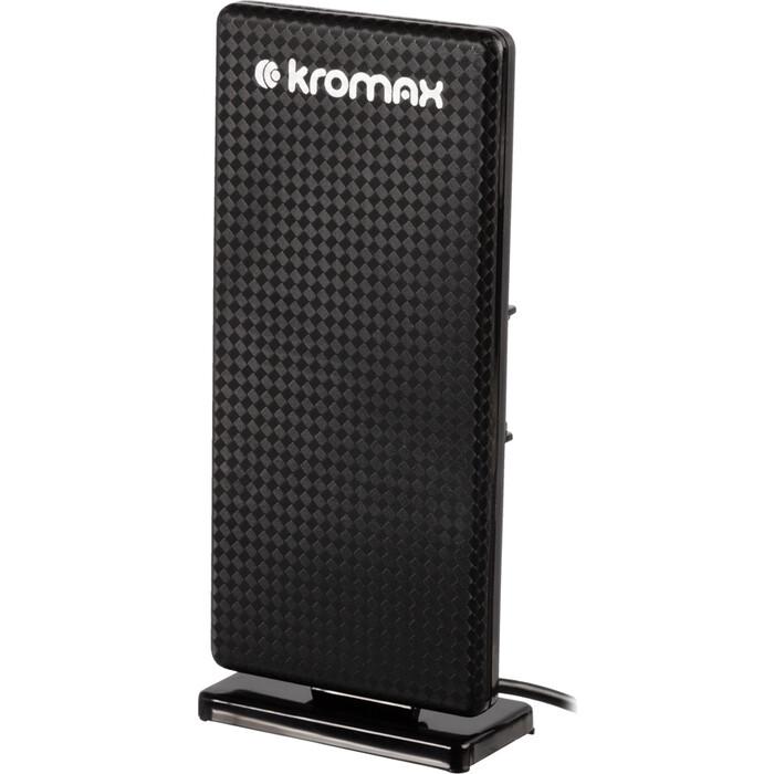 Фото - Комнатная телевизионная антенна Kromax FLAT-09 gray & black комнатная антенна kromax flat 02 black