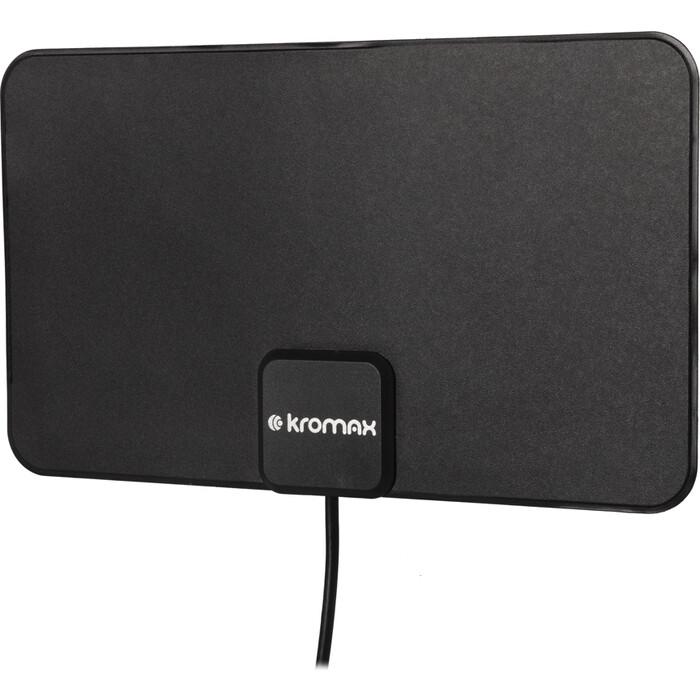 Фото - Комнатная телевизионная антенна Kromax FLAT-12b black комнатная антенна kromax flat 02 black