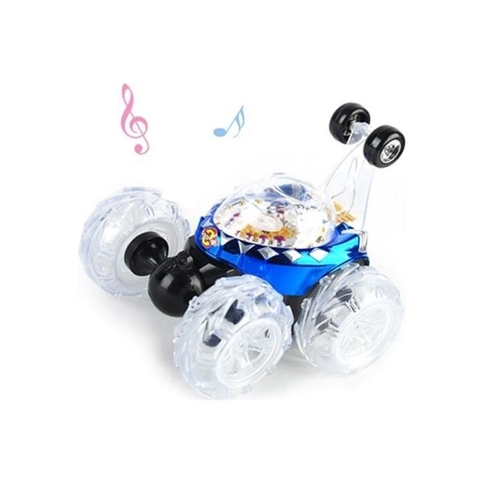 Радиоуправляемая машина-перевертыш Renda музыкальная - RD970-1-Blue