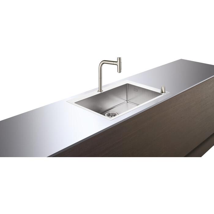 Кухонная мойка и смеситель Hansgrohe C71-F660-08 сталь (43202800)