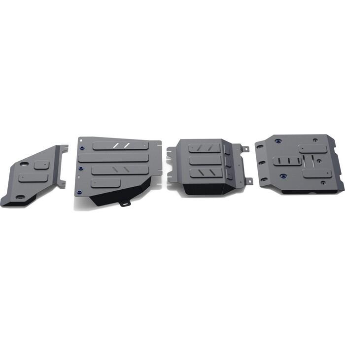 Защита радиатора, картера, КПП и РК Rival для Haval H9 (2014-2017 / 2017-н.в.), сталь 1.8 мм, с крепежом, K111.9418.1