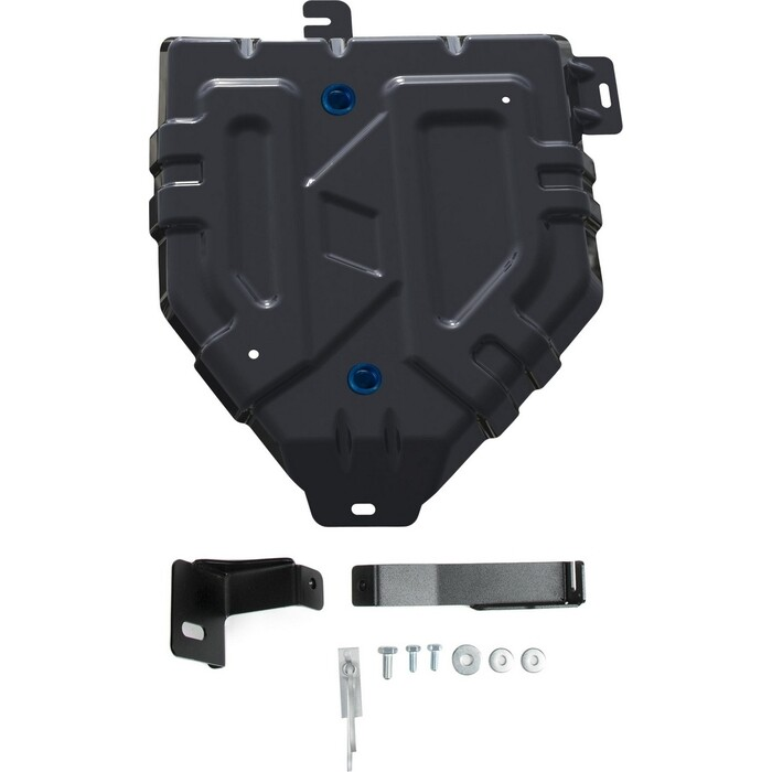 Фото - Защита топливного бака Rival для Hyundai Tucson III (2015-2018 / 2018-н.в.) /Kia Sportage IV (2016-2018 / 2018-н.в.), сталь 1.5 мм, с крепежом, 111.2381.1 защита задняя гнутая диаметр 60 мм tcc hyuntuc15 34 для hyundai tucson 2015 по н в