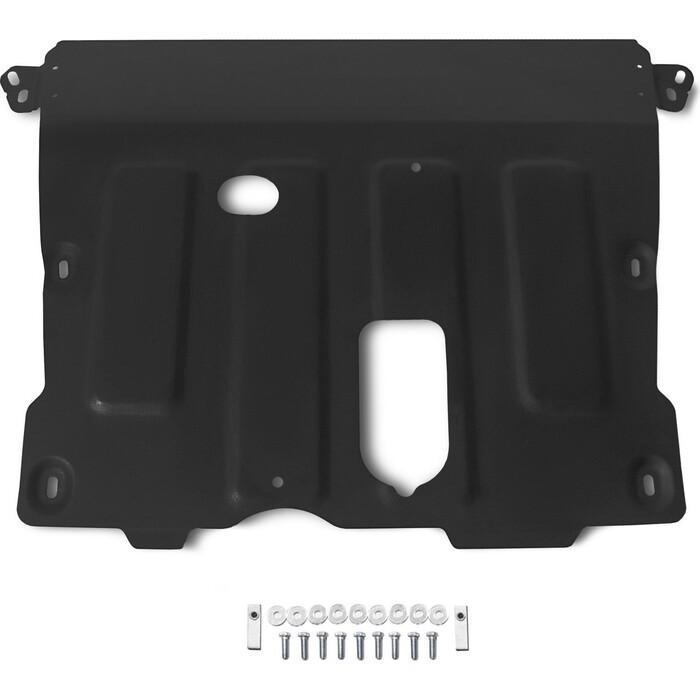Защита картера и КПП Rival для Nissan Terrano III (2014-) /Renault Arkana (2019-) /Duster (2010-) /Kaptur (2016-2020 / 2020-), сталь 1.8 мм, 111.4736.1