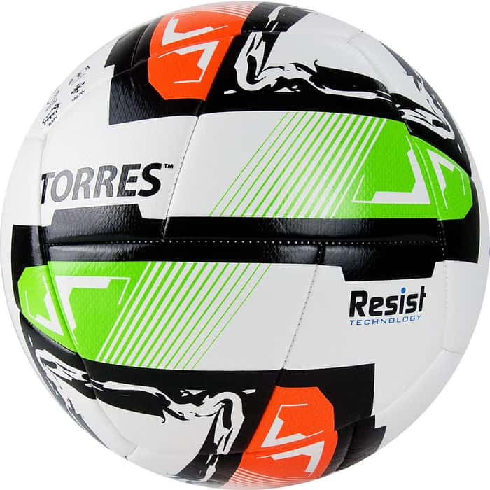 Фото - Мяч футбольный Torres Resist арт. F321045, р.5, белый-мультиколор мяч футбольный nike strike арт sc3639 105 р 5