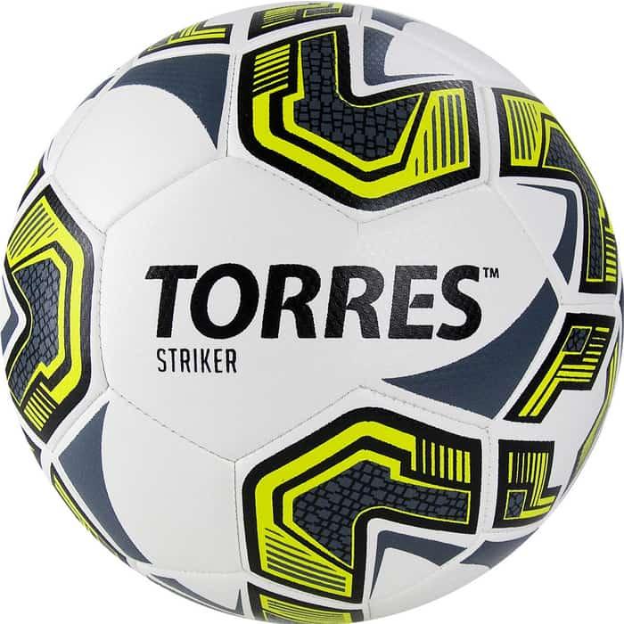 Фото - Мяч футбольный Torres Striker арт. F321035, р.5, бело-серо-желтый мяч футбольный nike strike арт sc3639 105 р 5