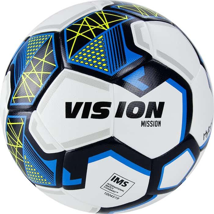Мяч футбольный Vision Mission арт. FV321075, р.5, бело-синий