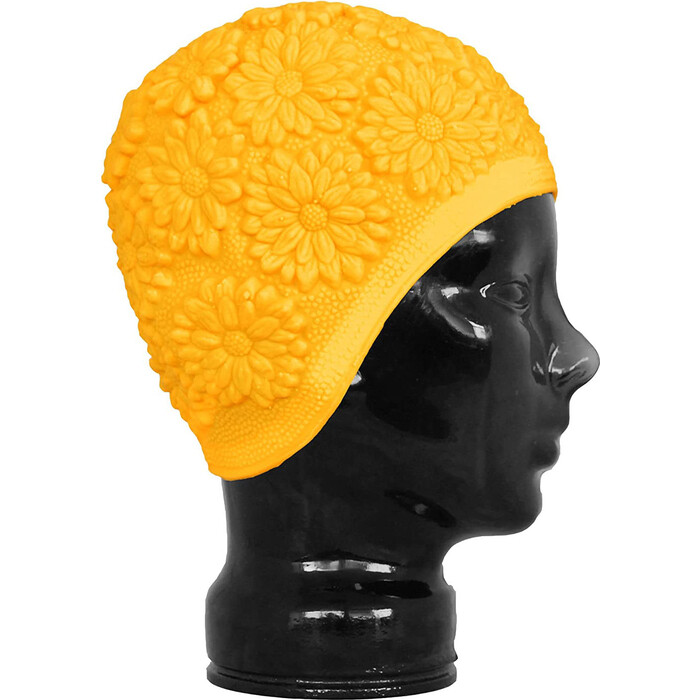 Шапочка для плавания Fashy Latex Ornament Cap, арт. 3102-00-45, латекс, желтый