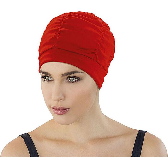 Шапочка для плавания женская Fashy With Plastic Lining, арт. 3403-40, полиэстер, красный