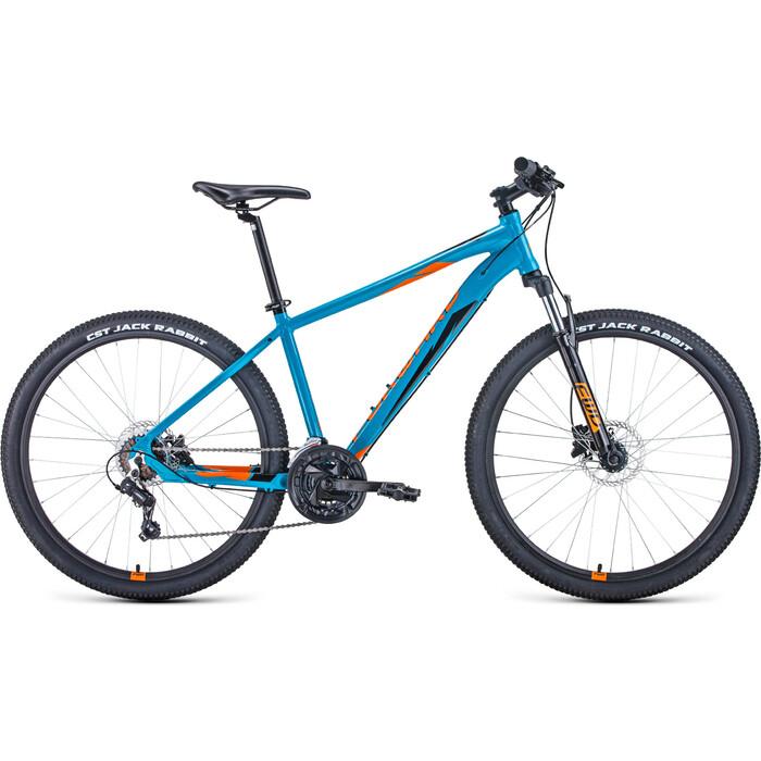 Велосипед Forward Apache 27.5 3.0 Disc 21 бирюзовый/оранжевый