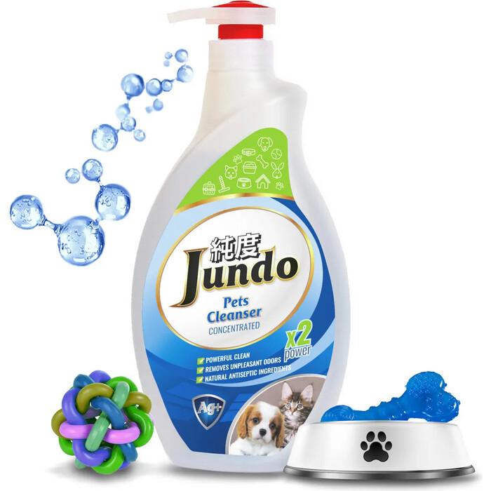 Гель для уборки Jundo концентрированный за дом-ми животными Pets cleanser с ионами серебра и коллагеном, 1 л