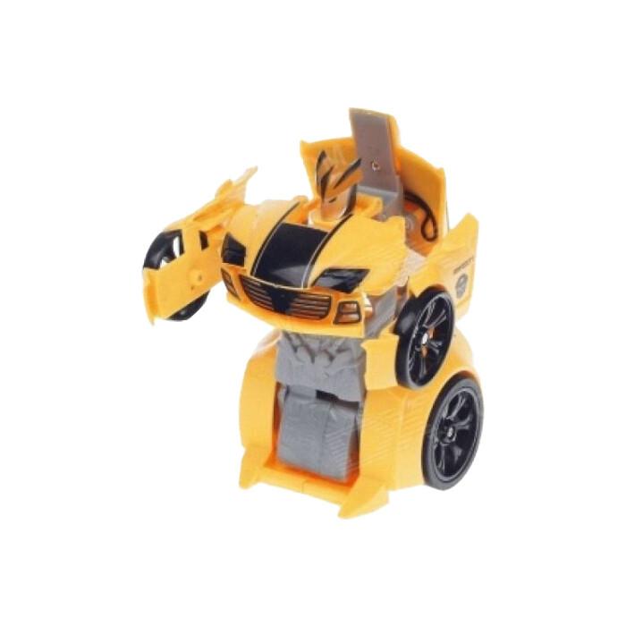 Happy Cow Робот мини машина-трансформер масштаб 1:24 - 777-321-Yellow робот мини танк шпион happy cow i spy с камерой wifi 777 270 gray