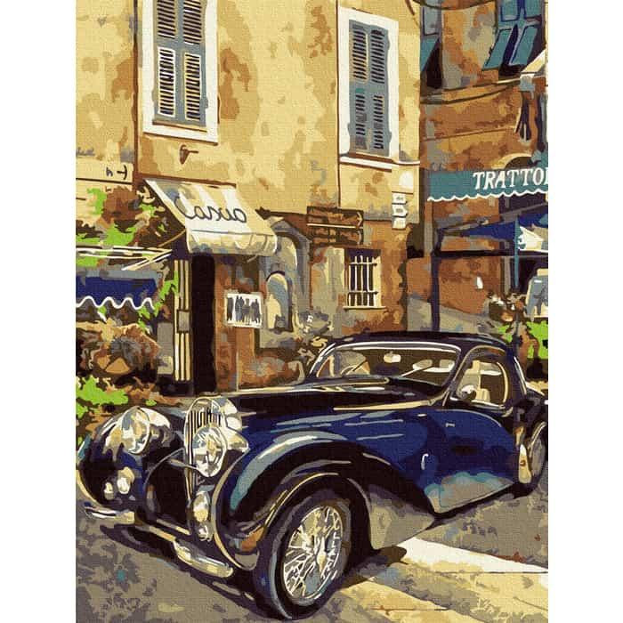 Картины по номерам MOLLY Бугатти 1939 г. 30х40 - KK0681