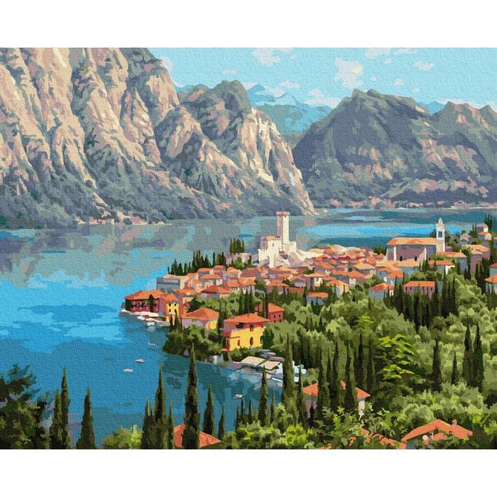 Картины по номерам MOLLY Прищепа. Городок у моря 40х50 - KH0978