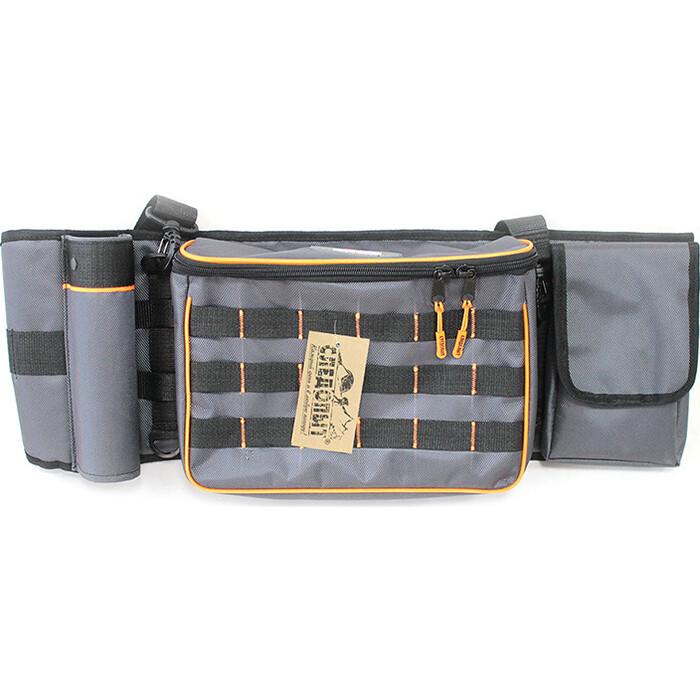 Сумка рыболовная поясная Следопыт Fishing Belt Bag, 74х22х10 см, серый + 2 коробки Luno 20