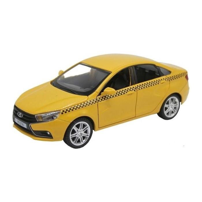 Машина Автопанорама LADA VESTA *ТАКСИ*, желтый, масштаб 1:24, свет, звук, инерция - JB1251178