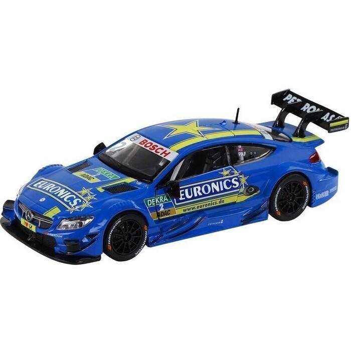 Машина Автопанорама Mercedes-AMG C 63 DTM, синий, масштаб 1:32, свет, звук, инерция - JB1251325 радиоуправляемая машинка wincars mercedes amg c63 dtm р у масштаб 1 24 ys 2035