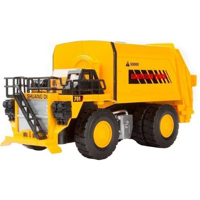 Машина Автопанорама Карьерный Мусоровоз, желтый, масштаб 1:50, свет, звук - JB0401485