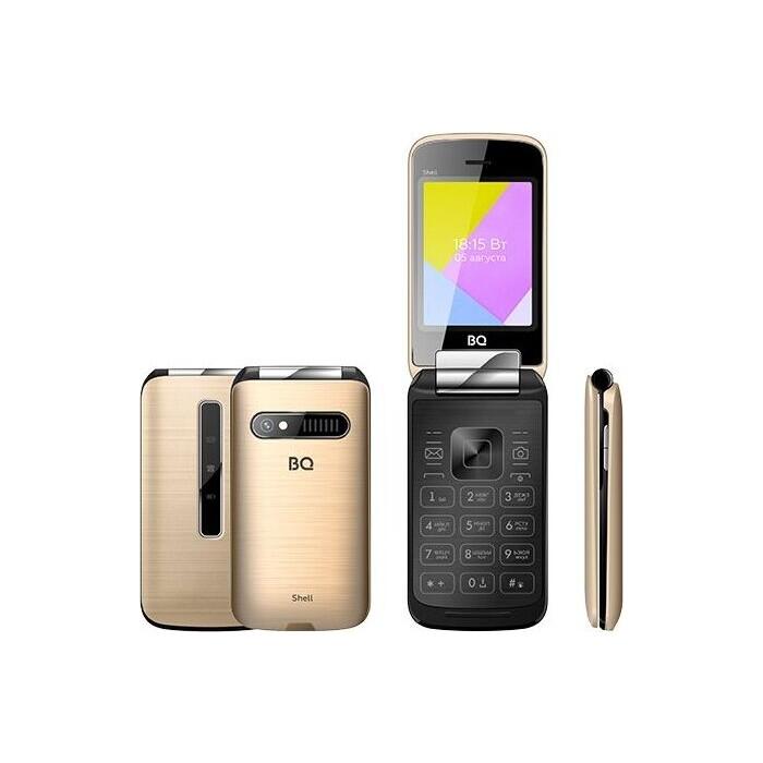 Мобильный телефон BQ 2816 Shell Gold мобильный телефон bq 2814 shell duo gold