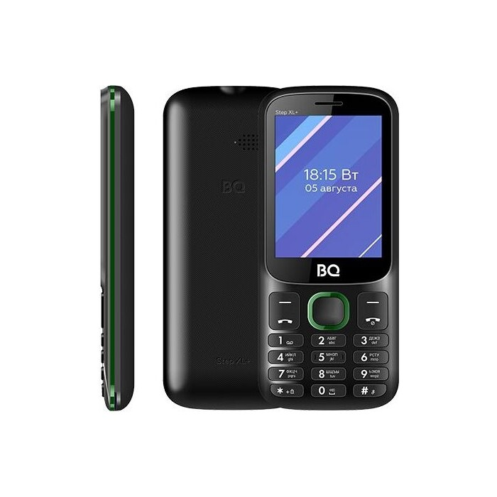 Мобильный телефон BQ 2820 Step XL+ Black/Green сотовый телефон bq 3590 step xxl black green