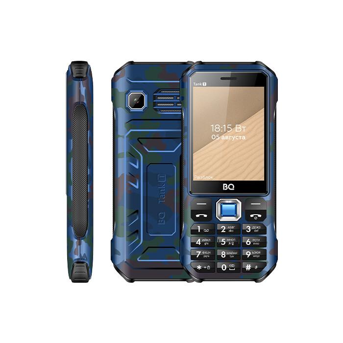 Мобильный телефон BQ 2824 Tank T Camouflage Blue телефон bq 2824 tank t черный