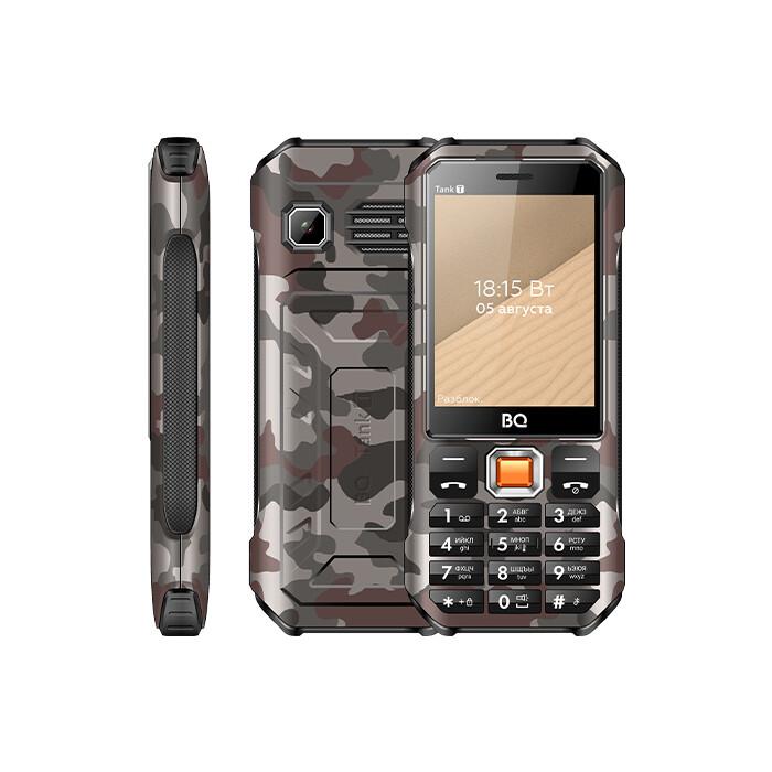 Мобильный телефон BQ 2824 Tank T Camouflage Grey телефон bq 2824 tank t черный