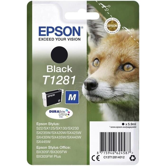 Картридж Epson I/C black for S22/SX125 new (C13T12814012)