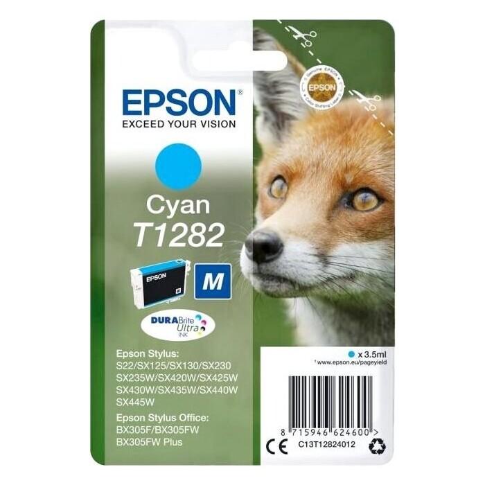 Картридж Epson I/C cyan for S22/SX125 new (C13T12824012)