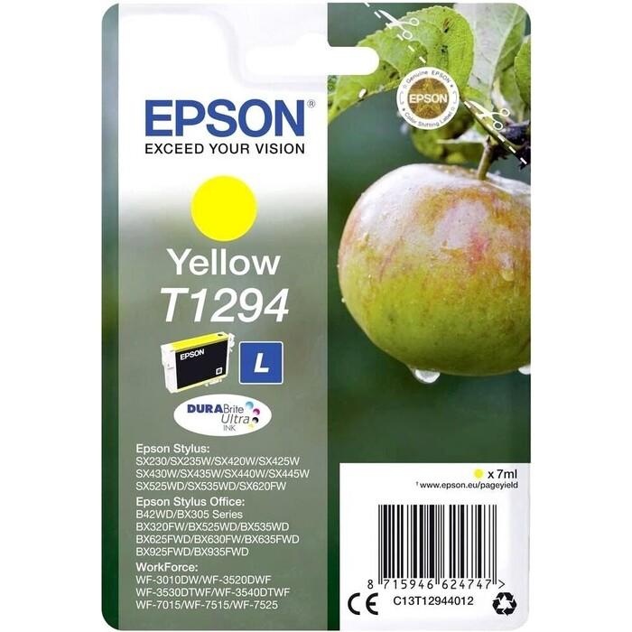 Картридж Epson I/C for SX420W/BX305F yellow new (C13T12944012)