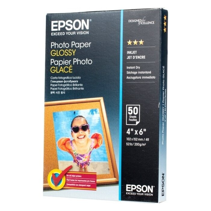 Бумага Epson Photo Paper 10x15 50 sheet (C13S042547)