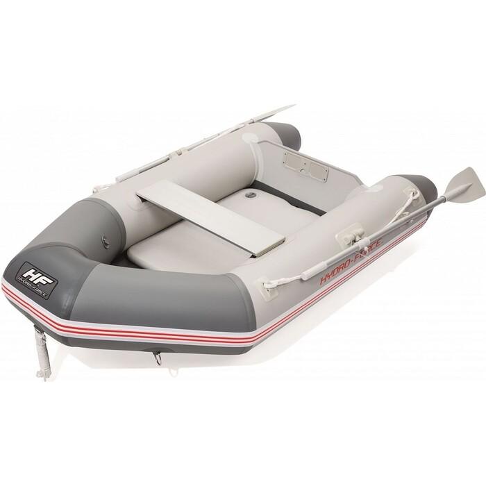 Надувная лодка Bestway Caspian 230х130х33см с жёстким дном, вёсла 145см, насос, транец, до 258кг