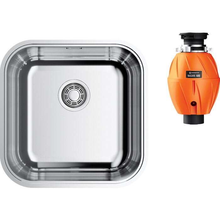 Кухонная мойка Omoikiri Omi 44-U/IF IN с измельчителем, нержавеющая сталь (4993494, 4995060)