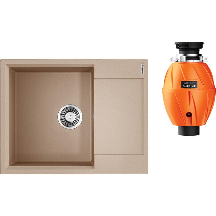 Кухонная мойка Omoikiri Daisen 65 SA с измельчителем, бежевая (4993685, 4995060)