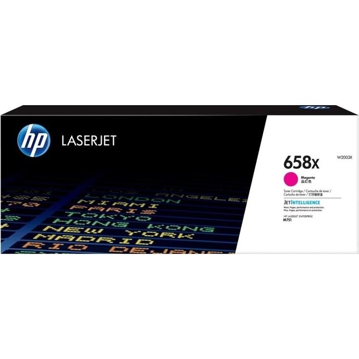 Тонер-картридж HP 658X Magenta LaserJet Toner Cartridge (W2003X)