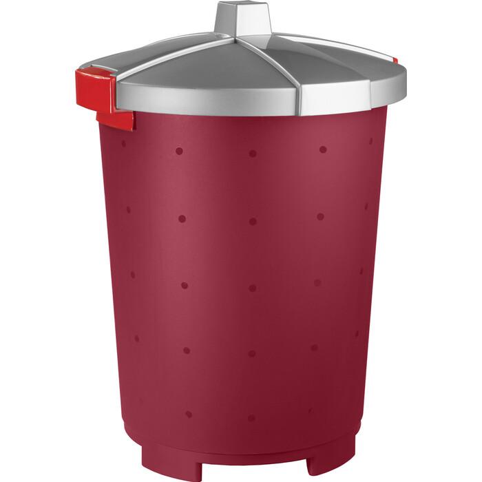 Контейнер для корма Бытпласт LUCKY PET 45 л (Бордовый)
