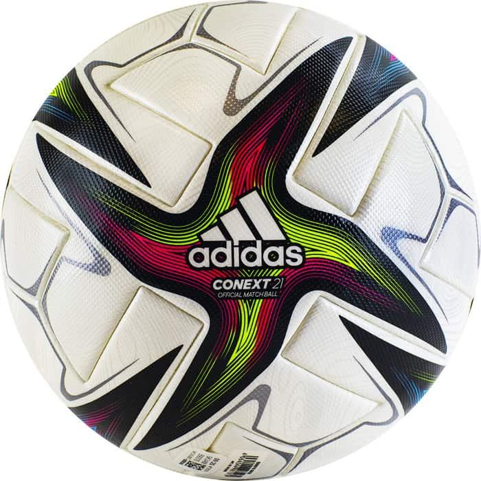 Мяч футбольный Adidas Conext 21 PRO GK3488, р.5, 6 панелей, FIFA PRO, ПУ, термосшивка, мультиколор футбольный мяч adidas conext 19 omb dn8633