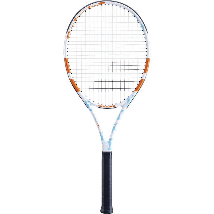 Ракетка для бадминтона Babolat Evoke 102 WOMEN Gr2, 121225-197, бело-сине-оранжевый
