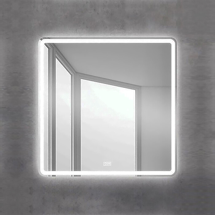 Фото - Зеркало BelBagno Spc-Mar 90 с подсветкой, сенсор, подогрев (SPC-MAR-900-800-LED-TCH-WARM) зеркало 90х80 см belbagno spc mar 900 800 led btn